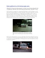 Kinh nghiệm đi xe ôtô đường ngập nước doc