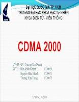 Tài liệu thực tập công nghệ thông tin - CDMA 2000 doc