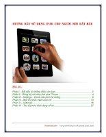 hướng dẫn sử dụng ipad cho người mới bắt đầu