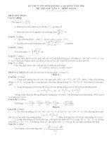 ĐỀ THI THỬ LẦN 2 MÔN TOÁN - TRƯỜNG THPT THÚC THỪA pdf