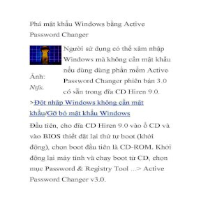 active password changer v3.0