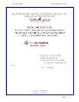 Thực trạng và giải pháp hoàn thiện quy trình giao nhận hàng nhập khẩu tại sotrans logistics