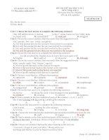 Đề thi thử đại học lần 1 môn Tiếng Anh 11 - Mã đề 246 pdf