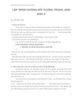 Lập trình hướng đối tượng trong java (Phần 2) pptx