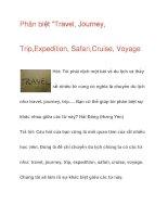 Phân biệt Travel, Journey, Trip,Expedition pps