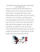 Cách phát hiện xử lý những phần trong website không được google crawl potx