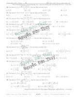 51 câu trắc nghiệm về tập xác định của hàm số Phần 2 Toán 11