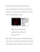 Script hỗ trợ lời bài hát cho YouTube '''' pot