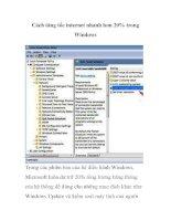 Cách tăng tốc internet nhanh hơn 20% trong Windows pptx