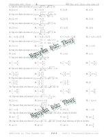 51 câu trắc nghiệm về tập xác định của hàm số Phần 1 Toán 11