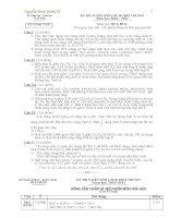 Đề + ĐA chuyên Hóa Thái Bình  10-11