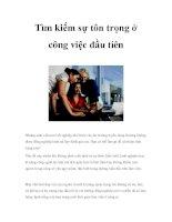 Tìm kiếm sự tôn trọng ở công việc đầu tiên pdf