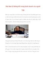Hai tâm lý không tốt trong kinh doanh của người Việt doc