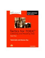 Tactics for TOEIC  answer key
