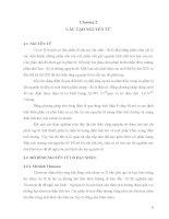 Giáo trình cơ sở lý thuyết hoá học - Chương 2 pps