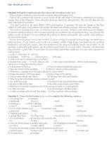 Đề tham luyện thi đại học môn Tiếng Anh - Đề số 24 doc