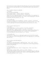 Bài tập tổng hợp môn nguyên lý thống kê ppt