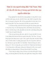 Tâm lý của người nông dân Việt Nam docx