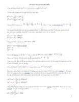 Bài toán tìm giá trị nhỏ nhất