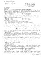 Đề thi thử Vật lý 2010 -  các trường ĐH7