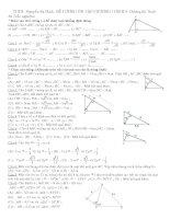 ôn tập chuong I hình học 9