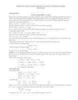 10 PHƯƠNG PHÁP GIẢI HÓA THI ĐH (P2)