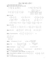 Giáo án dạy hè toán 7 lên 8