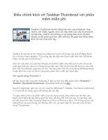 Điều chỉnh kích cỡ Taskbar Thumbnail với phần mềm miễn phí potx