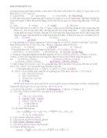 LUYỆN THI:đại cương hữu cơ & hdrocacbon
