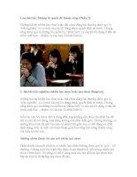 Làm bài thi Những bí quyết để thành công (Phần 2) pdf