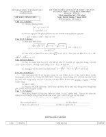 Một số bài thi TS lớp 10 chuyên Toán