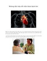 Những dấu hiệu để chẩn đoán bệnh tim ppsx