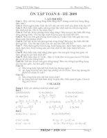 Giáo án dạy hè toán 8 lên 9