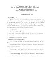 QUY CHUẨN kỹ THUẬT QUỐC GIA đối với ô NHIỄM VI SINH vật TRONG THỰC PHẨM