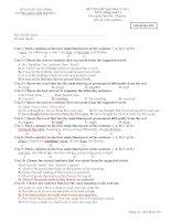 Đề thi thử đại học môn Tiếng Anh 11 - Mã đề 495 pot