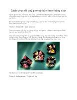 Cách chọn đá quý phong thủy theo tháng sinh pdf