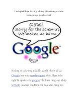 Cách phát hiện & xử lý những phần trong website không được google crawl potx