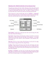 Photoshop CS5 - Thiết kế và trình bày với Type Character Panel pps