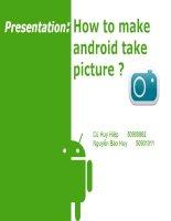 Báo cáo thuyết trình android