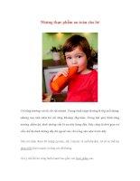 Những thực phẩm an toàn cho bé ppt