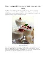 Chữa loạn khuẩn đường ruột bằng sữa chua đậu nành ppt