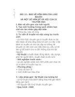 BÀI 22 : BẢO VỆ VỐN GEN CỦA LOÀI NGƯỜI pptx