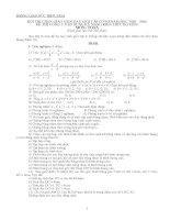 Đề và đáp án thi giáo viên dạy giỏi môn toán - THCS