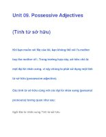 Unit 09. Possessive Adjectives pps