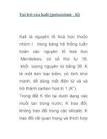 Vai trò của kali (potassium - K) docx