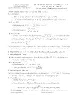 3 đề thi thủ Đại học môn Toán khối A, B, D và đáp án