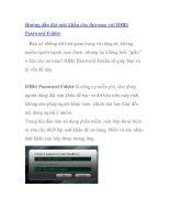 Hướng dẫn đặt mật khẩu cho thư mục với IOBit Password Folder doc