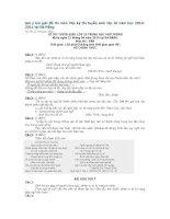 Gợi ý bài giải đề thi môn Văn kỳ thi tuyển sinh lớp 10 năm học 2010