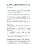 NHÂN MỘT SỐ TRƯỜNG HỢP ALZEIMER ĐIỀU TRỊ TẠI KHOA NỘI THẦN KINH BỆNH VIỆN pdf