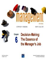 decision-making the essence of the manager's job
